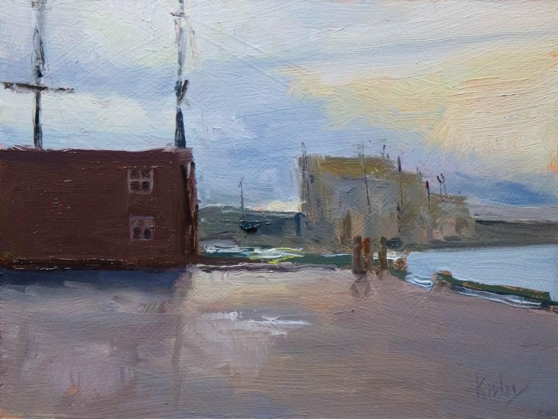 """Harborside West"" original fine art by Randall Cogburn"