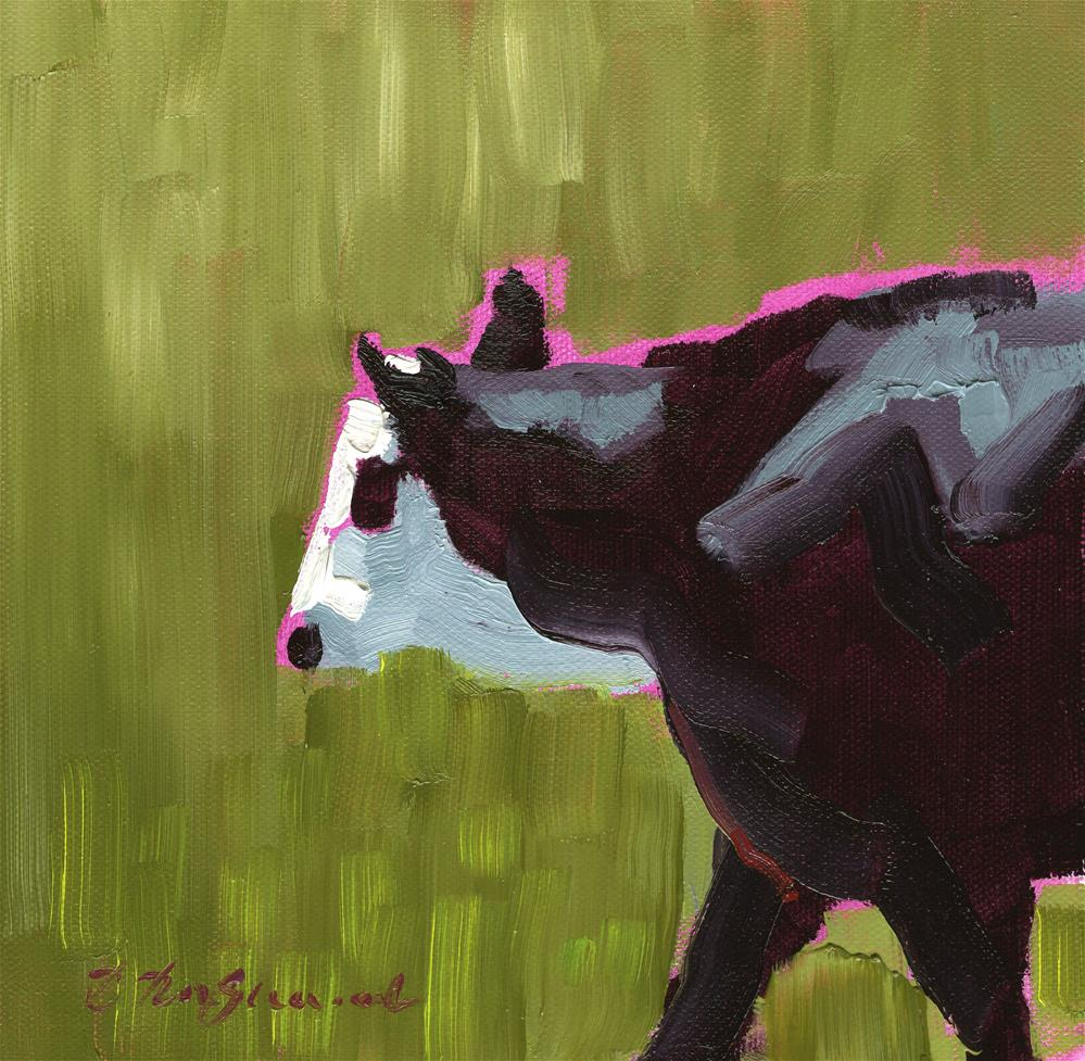 """White-Faced Angus"" original fine art by B. Rex Stewart"