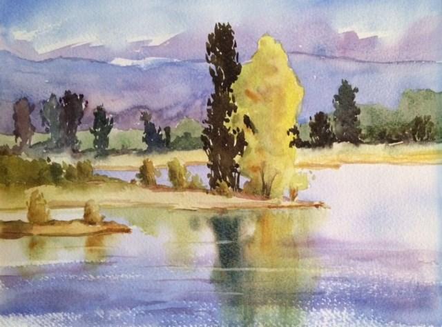 """Along the Loire (2)"" original fine art by Peter Wellington"