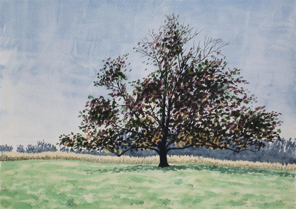 """Tree near Calgary Cemetery"" original fine art by Greg Arens"