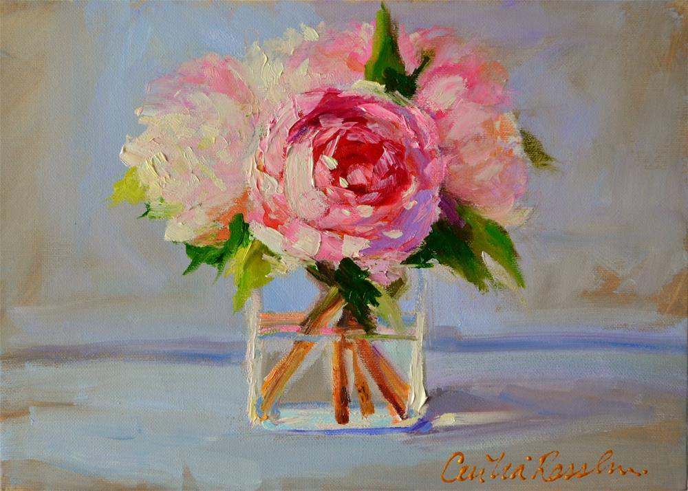 """PEONIE"" original fine art by Cecilia Rosslee"