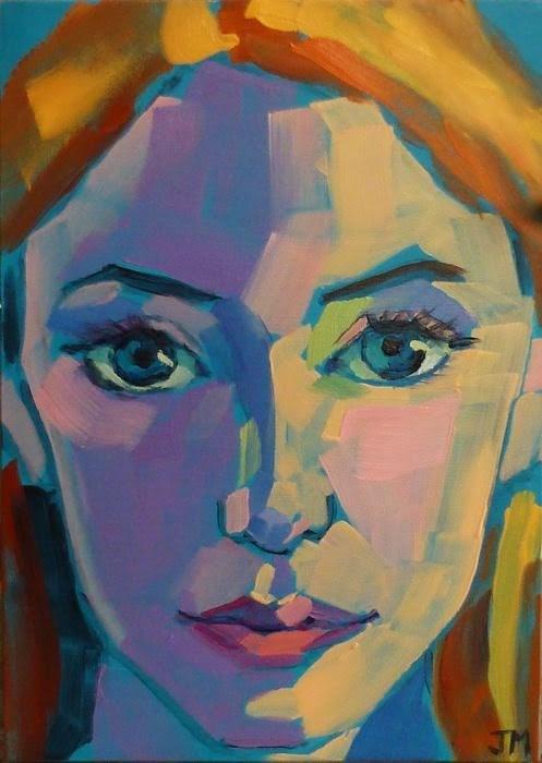 """Half-Hour Portrait"" original fine art by Jessica Miller"