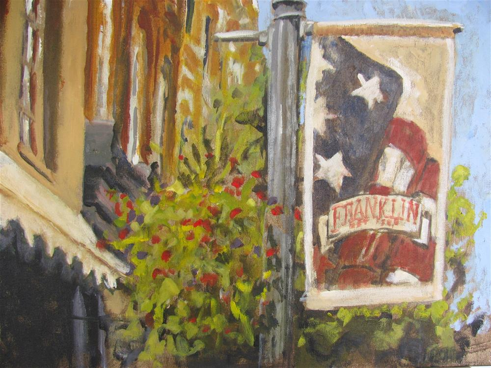 """Summer on Main Street"" original fine art by Susan Elizabeth Jones"