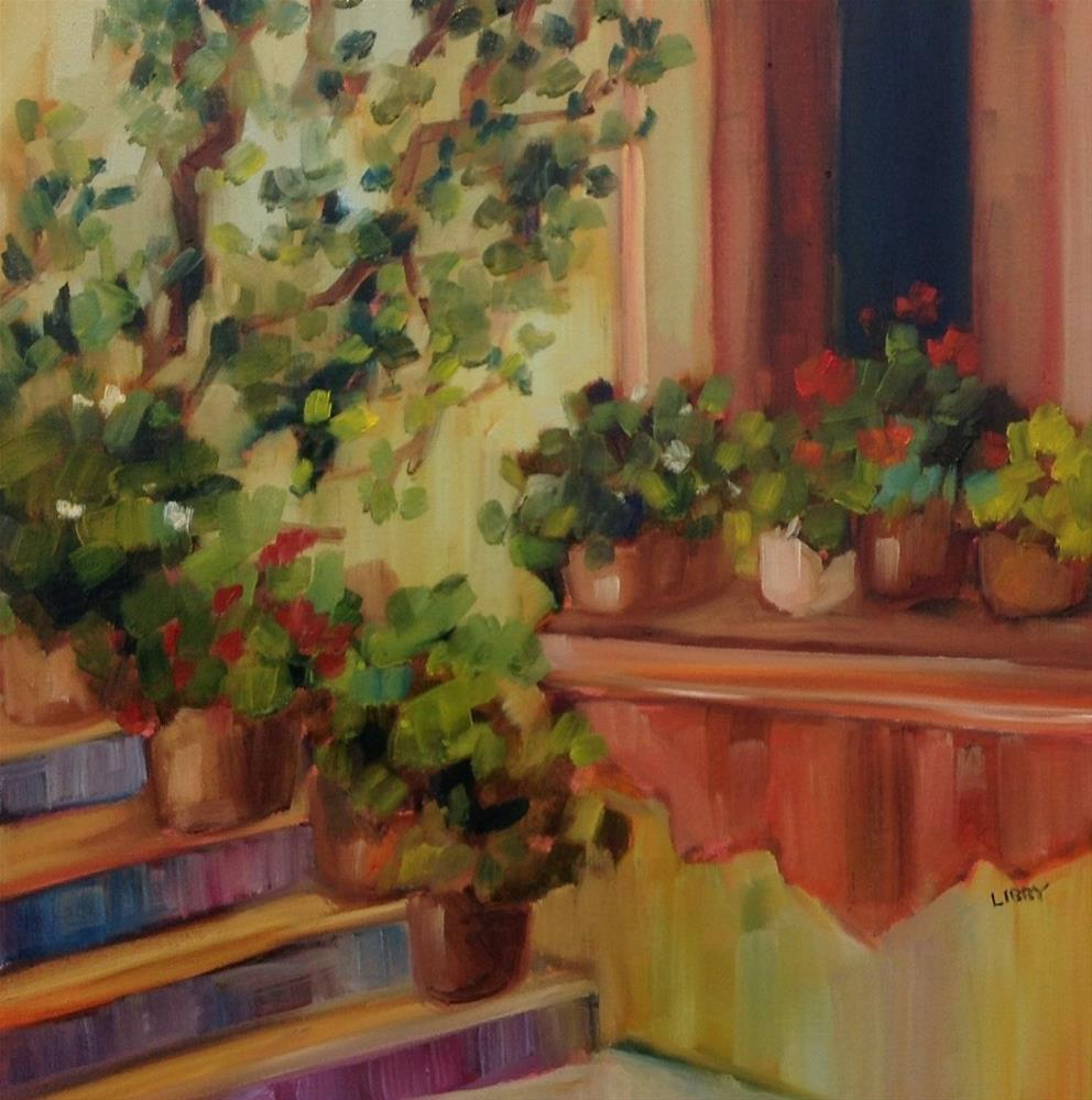 """Windowsill"" original fine art by Libby Anderson"