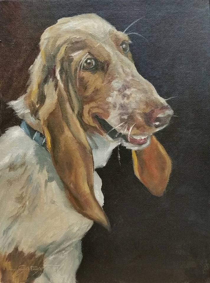 """LUCY"" original fine art by Gabriella DeLamater"