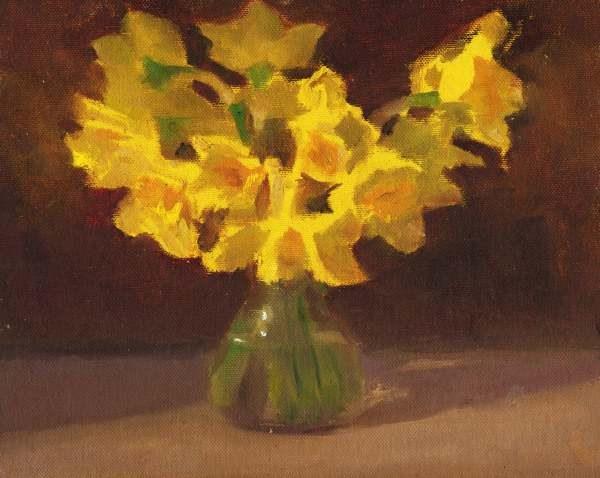 """Dafodils"" original fine art by Ed Cooper"