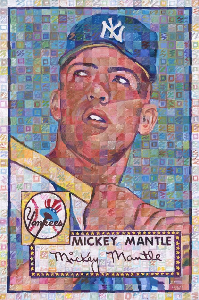 """Mickey Mantle Rookie Card"" original fine art by Randal Huiskens"