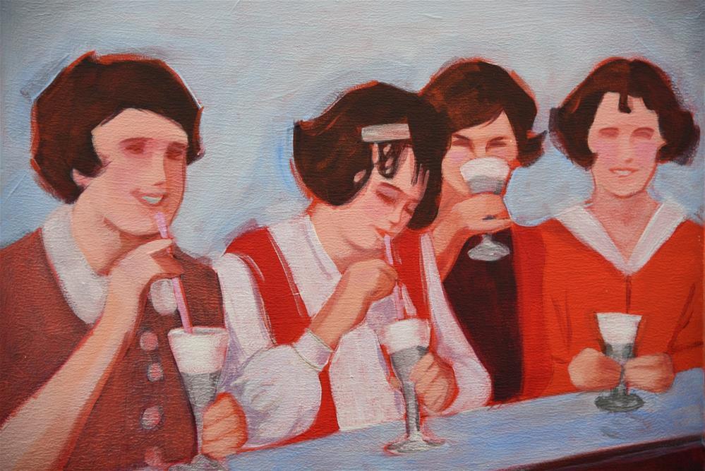 """Shared Indulgences 1"" original fine art by Bev Thibault"