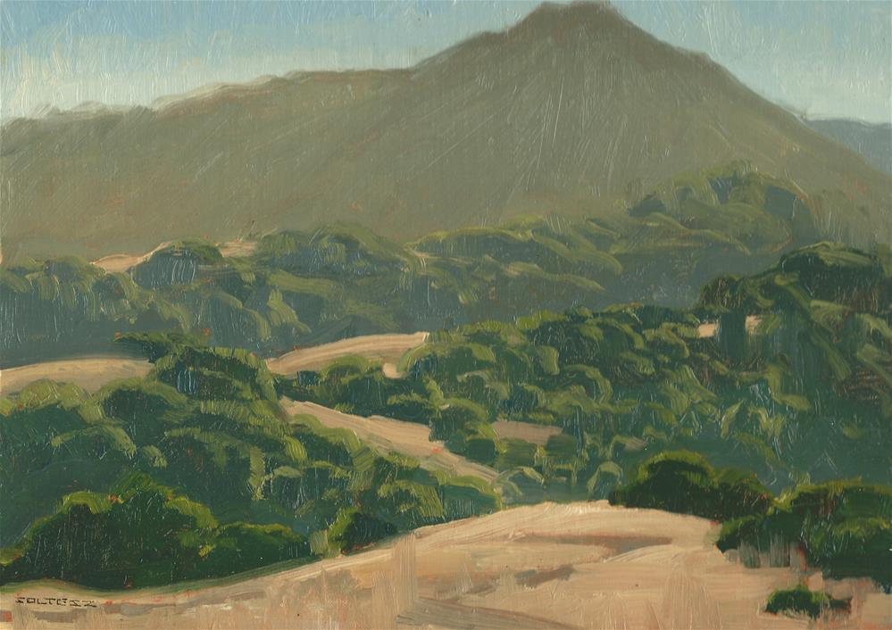 """Tam from ring mountain"" original fine art by J. Thomas soltesz"
