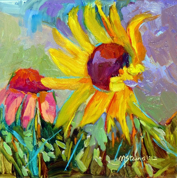 """Indiana Sunflower 13039"" original fine art by Nancy Standlee"