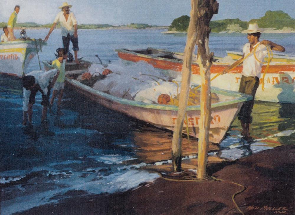 """Tying Up"" original fine art by Ned Mueller"