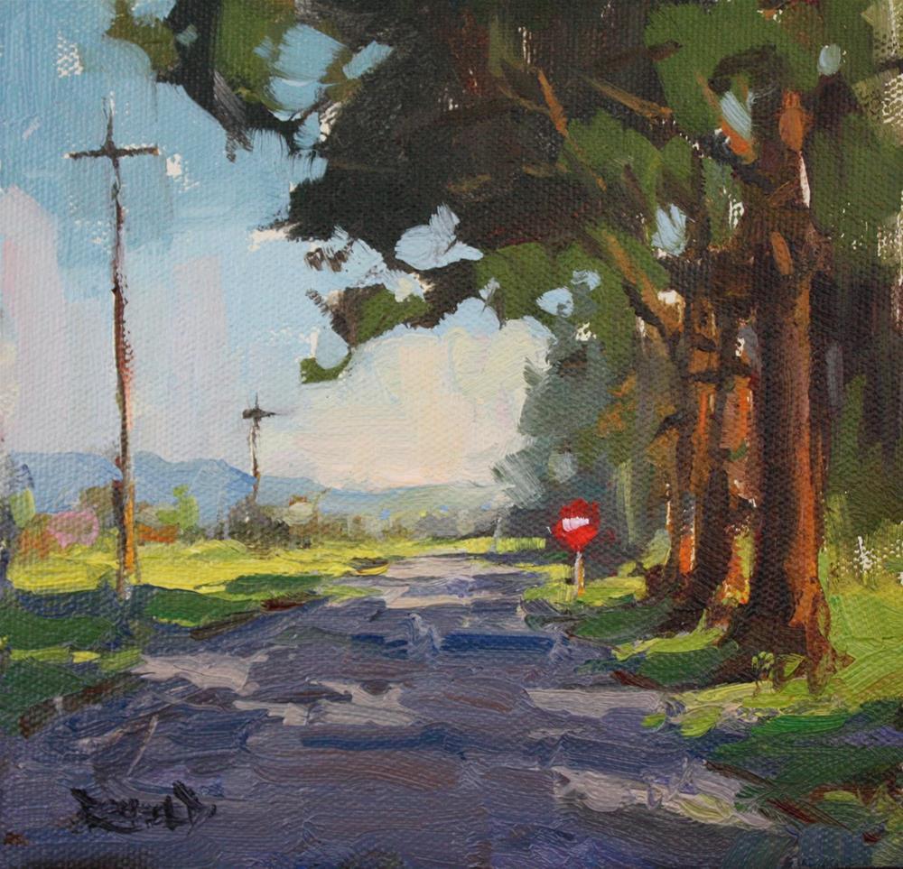 """Dog Walk"" original fine art by Cathleen Rehfeld"
