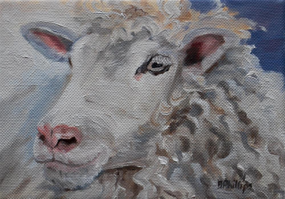 """Nice hair day"" original fine art by Beverley Phillips"