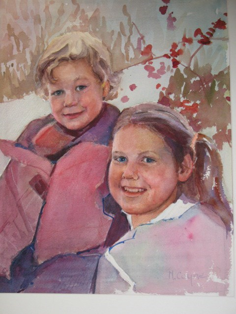 """the mcgraths"" original fine art by meribeth coyne"