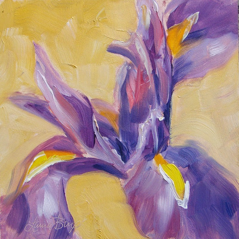 """Iris 175"" original fine art by Laura  Buxo"