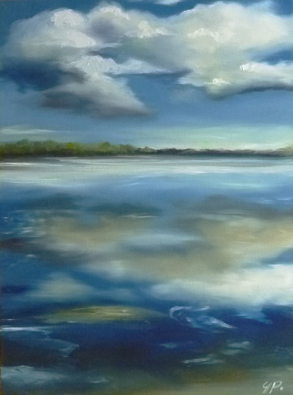 """The Blues"" original fine art by Gina Pater"