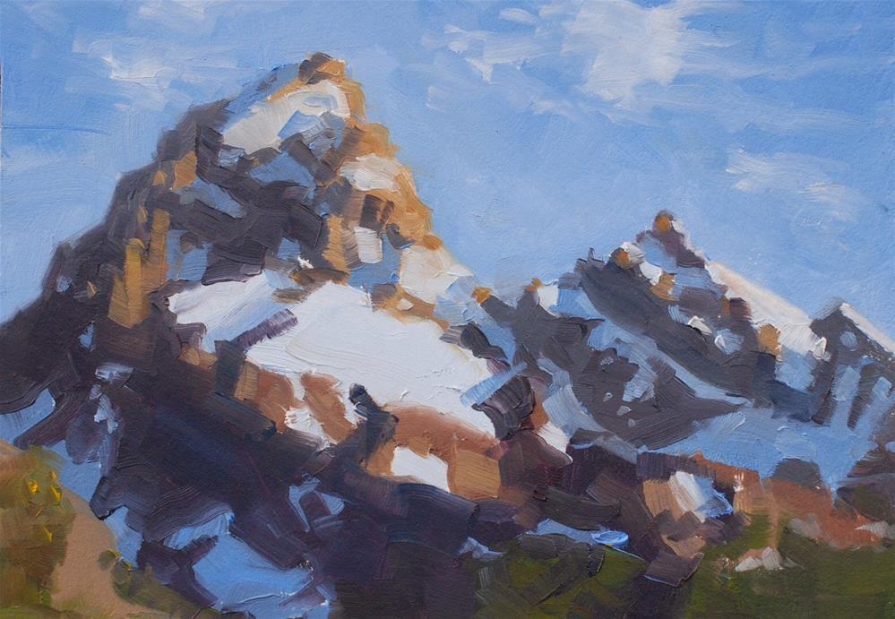 """The Tetons - a Close Up"" original fine art by Susan McManamen"