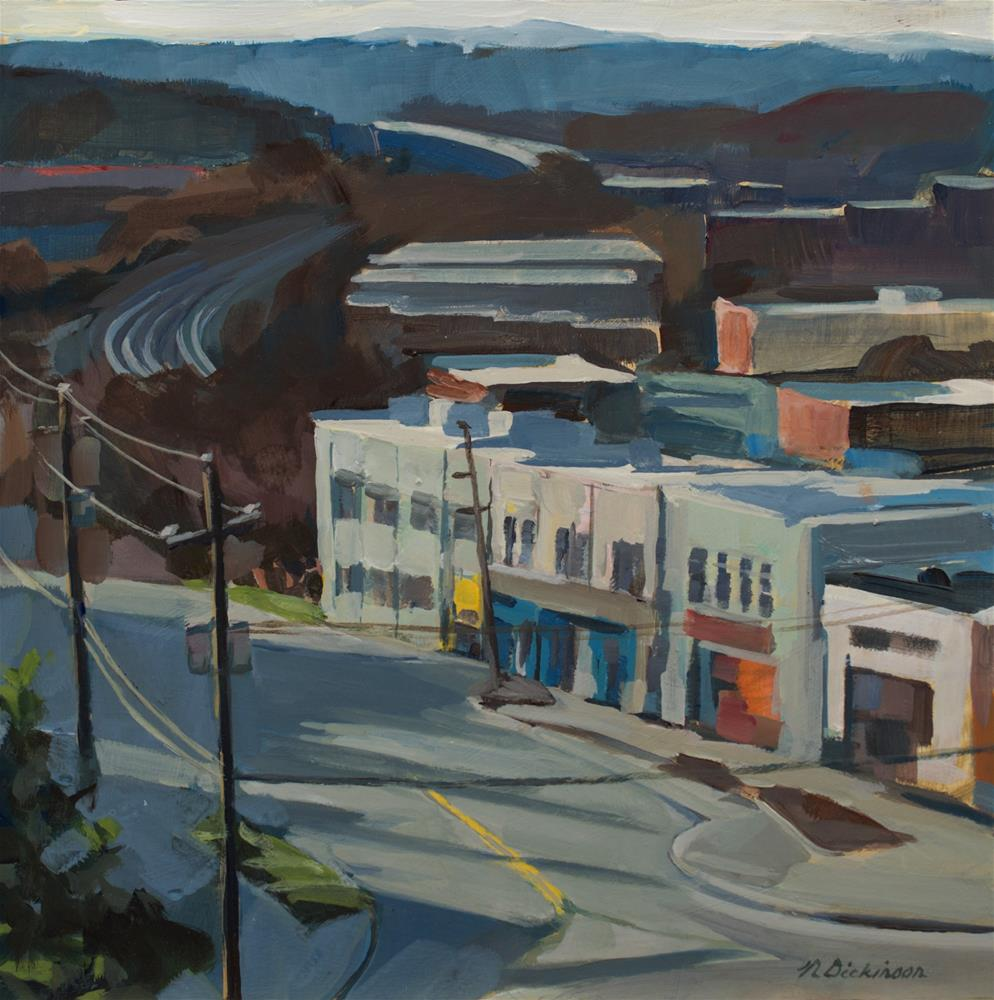 """River Arts District, The Wedge"" original fine art by Nat Dickinson"