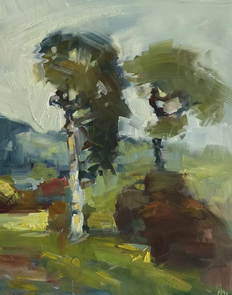 """Oregon Trees"" original fine art by Patti McNutt"