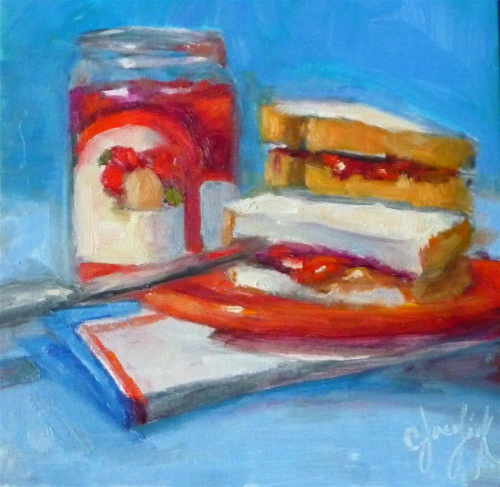 """PB & J #5"" original fine art by Carol Josefiak"