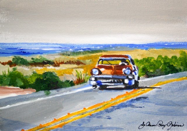 """Sunday Driver"" original fine art by JoAnne Perez Robinson"