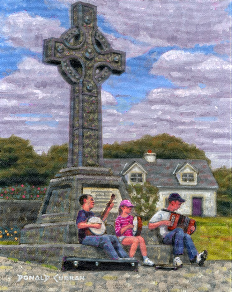 """Irish Kids Playing Traditional Music"" original fine art by Donald Curran"