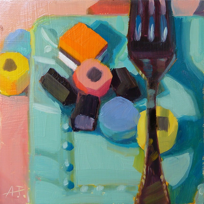 """Licorice Left - Fork it Over"" original fine art by Anette Power"
