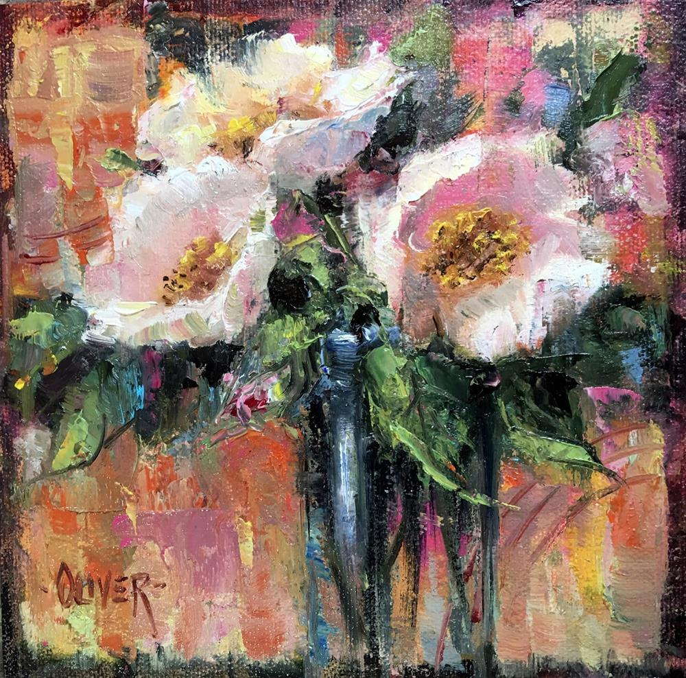 """A Floral and An Analogous Demo"" original fine art by Julie Ford Oliver"