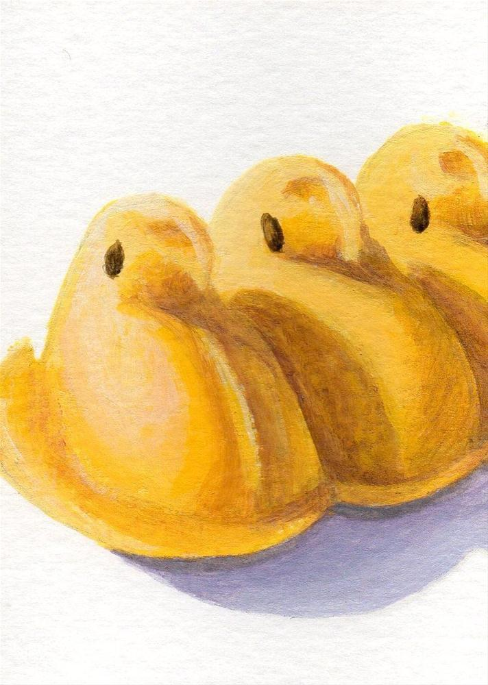 """Spring Peeps"" original fine art by Debbie Shirley"