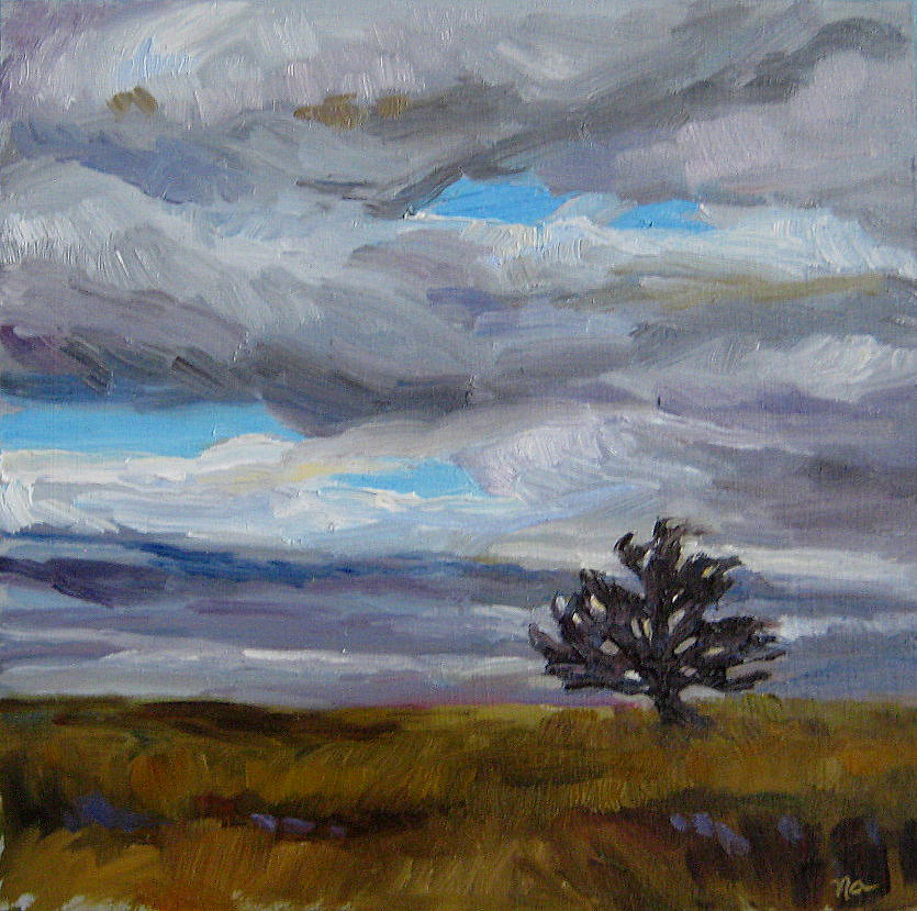 Alone on The Range original fine art by Nicki Ault