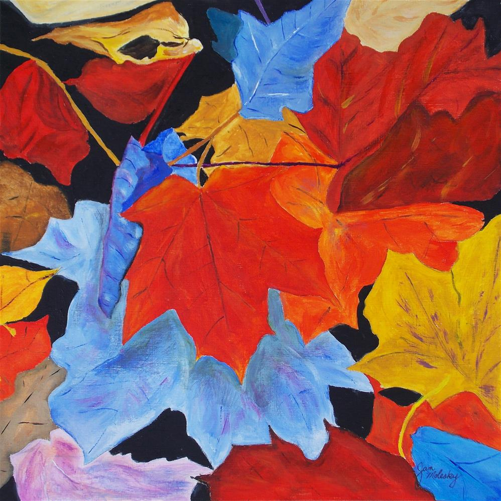 """Fallen Leaves"" original fine art by Jan Molesky"