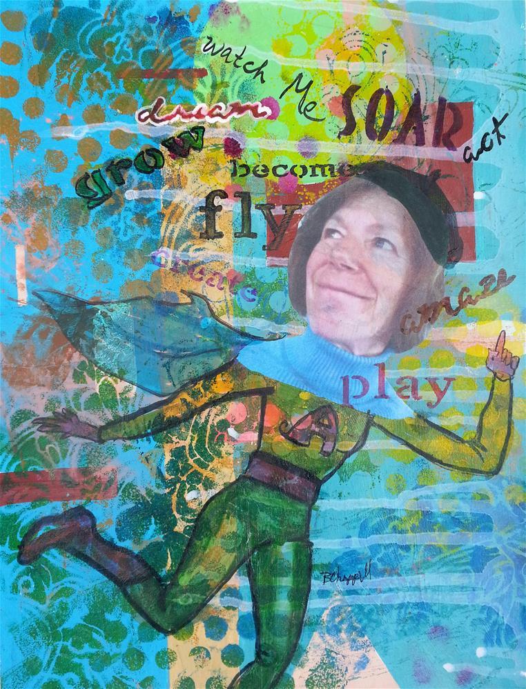 """""""Watch Me"""" original fine art by Becky Chappell"""