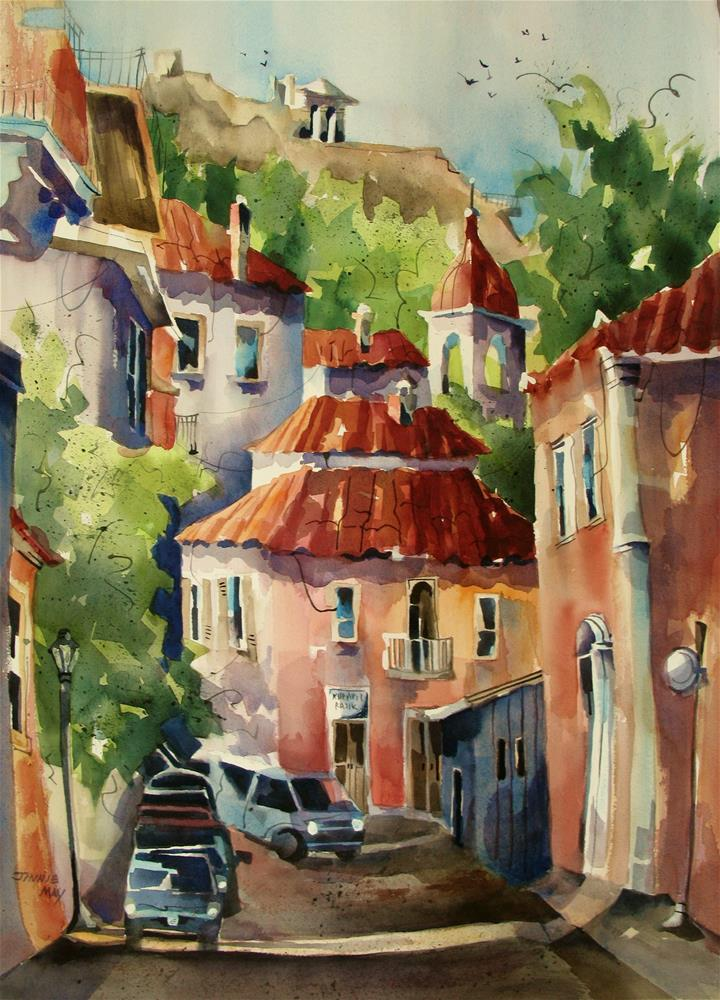 """Old Athens"" original fine art by Jinnie May"