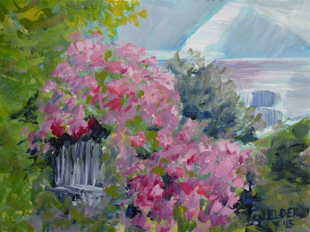 """Rhodies"" original fine art by Judith Elder"
