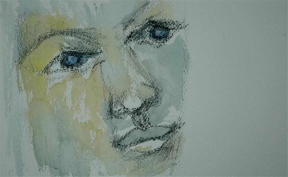 """Face study - open minded"" original fine art by Ulrike Schmidt"