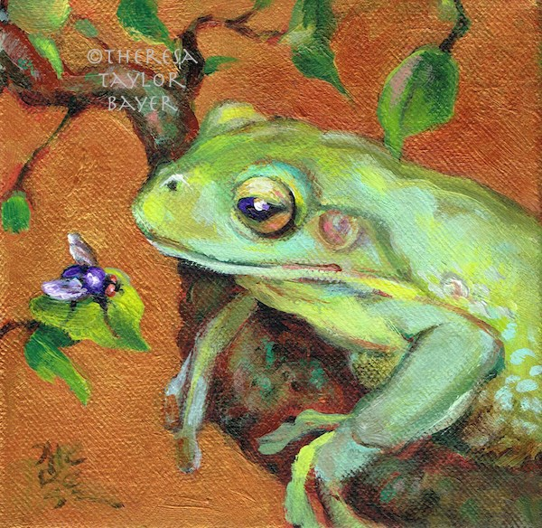 """Snack Time"" original fine art by Theresa Taylor Bayer"