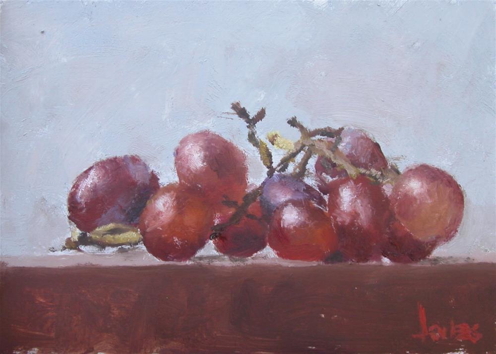 """Red Grapes"" original fine art by Richard Jones"
