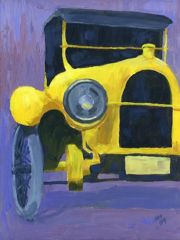 """Yellow Antique"" original fine art by David King"