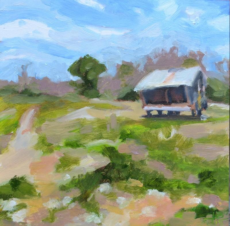 """Cattle Feeder"" original fine art by Jonathan Baker"
