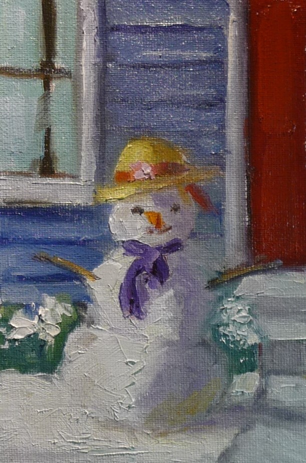 """Who doesn't like a Snowday?"" original fine art by Carol Josefiak"