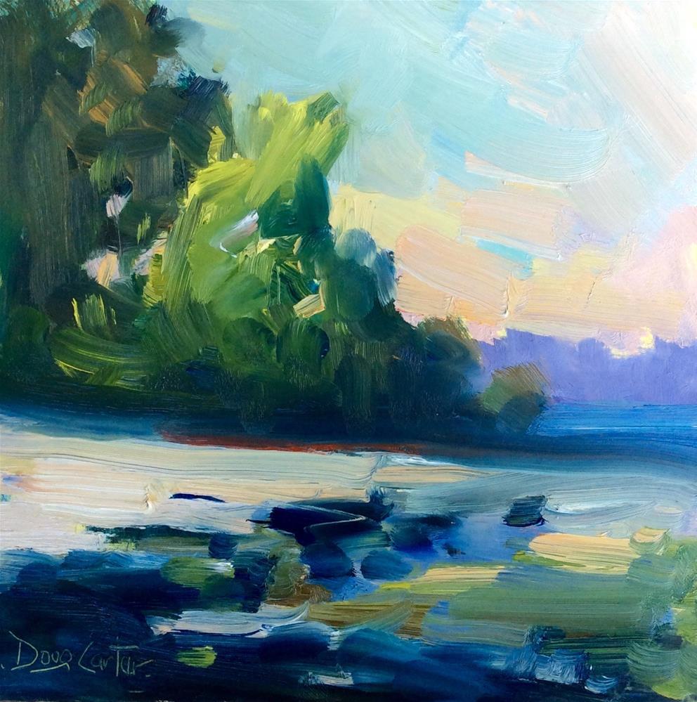 """Lakes Edge"" original fine art by Doug Carter"