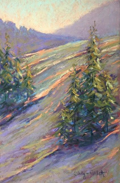 """Waiting for Snow"" original fine art by Cindy Gillett"