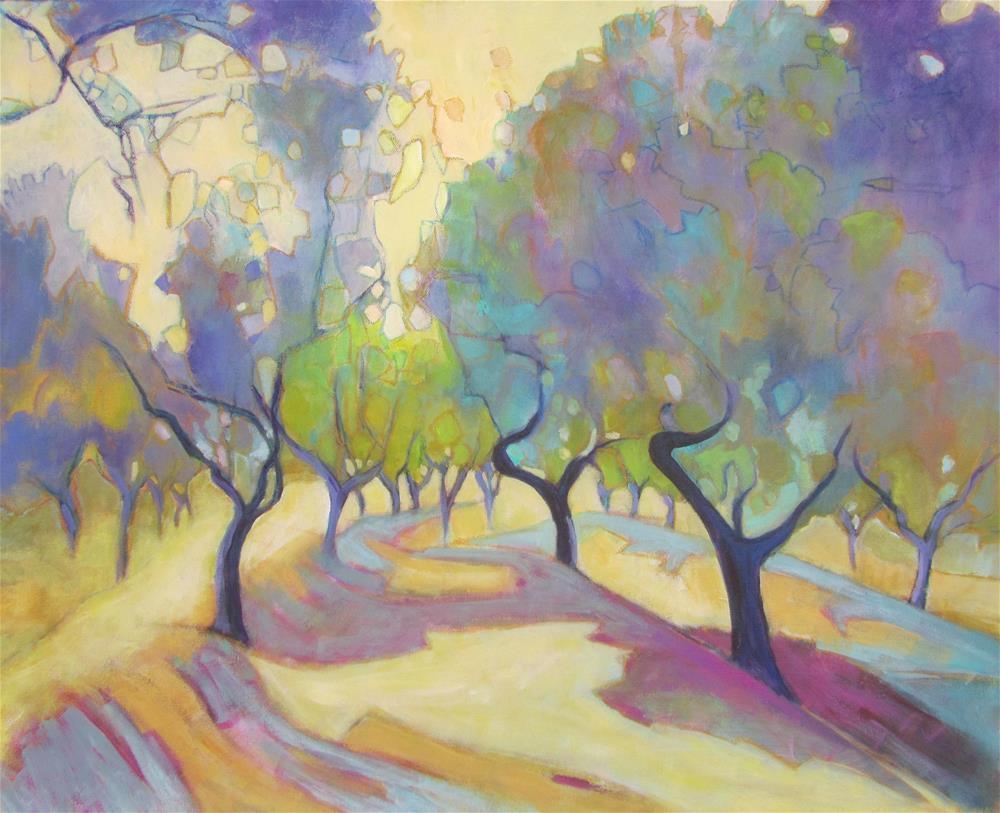 """Oliveraie"" original fine art by Patricia MacDonald"