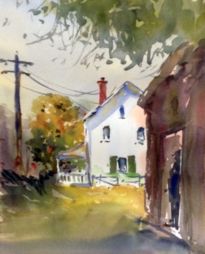 """Farmhouse in Sight"" original fine art by David Finnell"