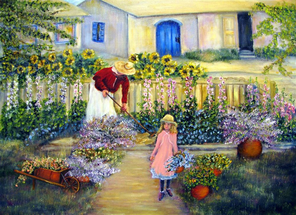 """""""Summer Garden"""" original fine art by Loretta Luglio"""
