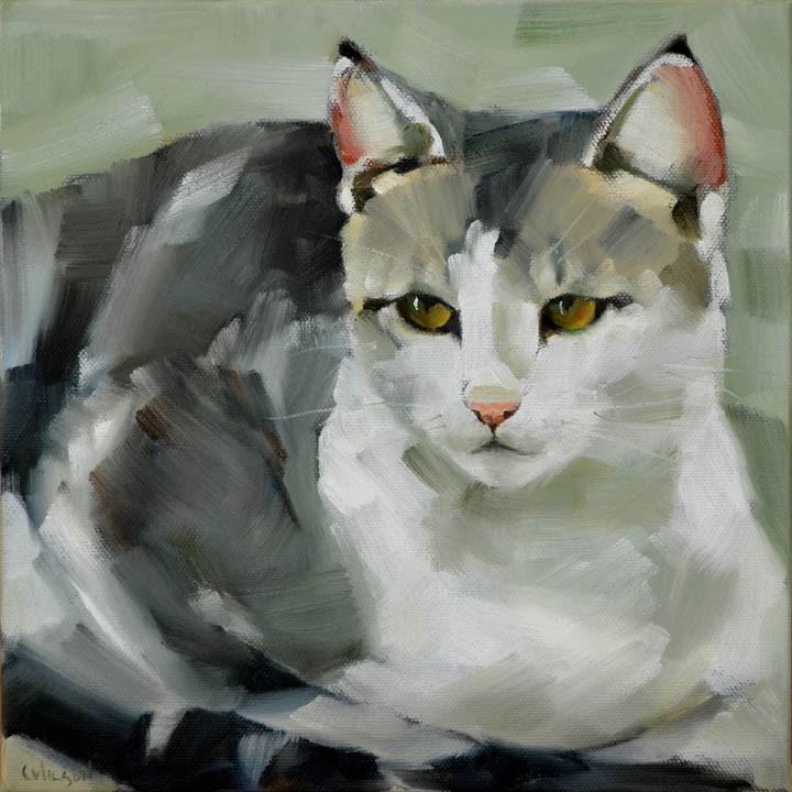 """Michel"" original fine art by Cheryl Wilson"
