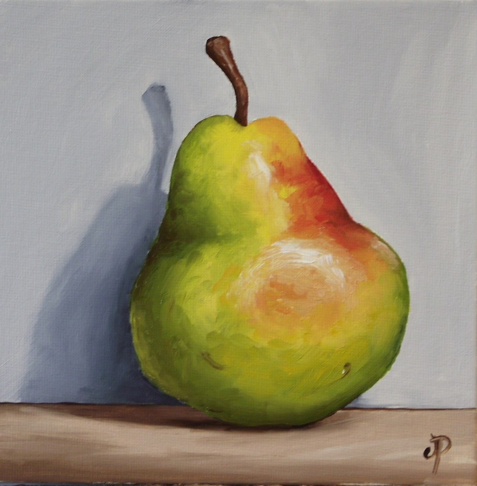 """Blush Williams Pear"" original fine art by Jane Palmer"