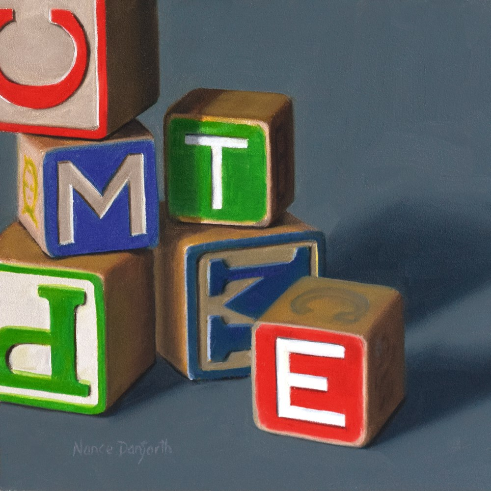 """Alphabet Blocks"" original fine art by Nance Danforth"