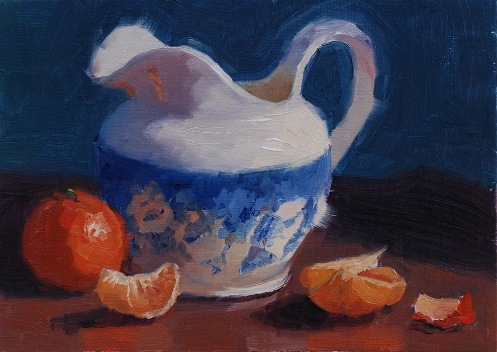 """Cannon Beach Creamer"" original fine art by Susan McManamen"