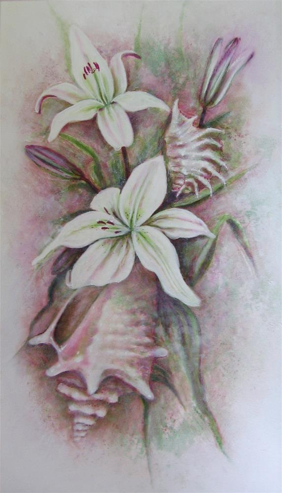 """Shellily"" original fine art by Karen Roncari"